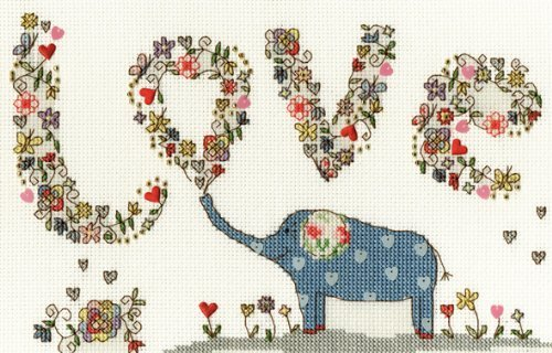 Bothy Threads Love Elly Counted Cross Stitch Kit by Bothy Threads
