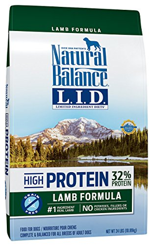 Natural Balance Limited Ingredient Diets High Protein Dry Dog Food, Lamb Formula, Grain Free, 24-Pound by Natural Balance
