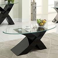 247SHOPATHOME Idf-4370BK-C Coffee-Tables, Black