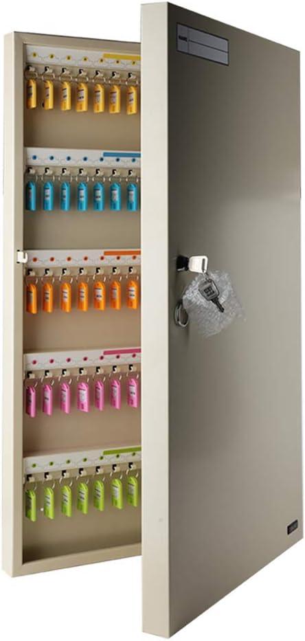 Armarios para llaves Gabinete para llaves Caja para llaves Metal 150 para colgar en la pared Seguro para llaves para autos Administración de gabinetes Propiedad de la comunidad Hotel Manor Almacén par:
