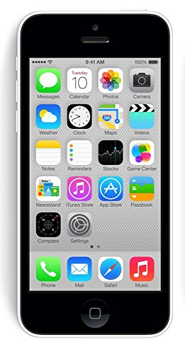 Apple iPhone 5C 8GB Factory Unlocked GSM Cell Phone - White (Certified Refurbished) by Apple