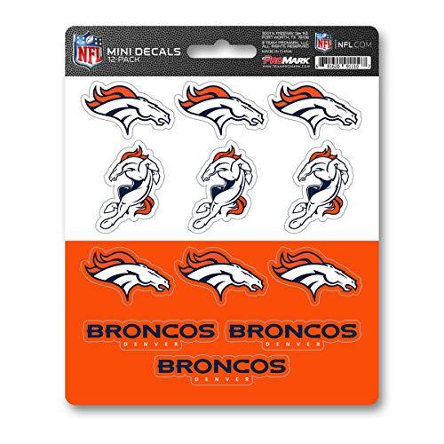 ProMark NFL Denver Broncos DecalDecal Set Mini 12 Pack, Team Colors, One Size