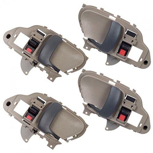 AUTEX 4pcs Beige Interior Door Handles Front Rear Left Right Compatible with Chevy Tahoe GMC Yukon 1995 1996 1997 1998 1999 2000 Chevrolet GMC Suburban C/K 1500 2500 3500 Pickup Truck 77570 77571