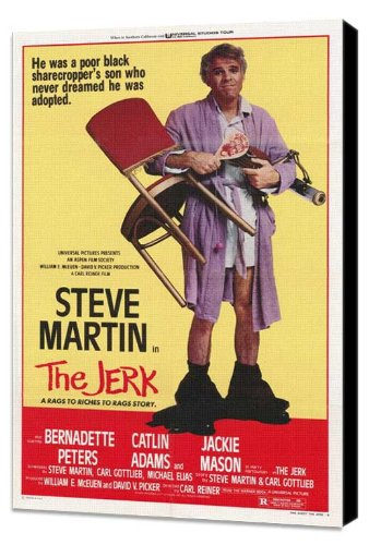 ArtFuzz The Jerk 27 x 40 Movie Poster - Style A - Museum Wrapped Canvas