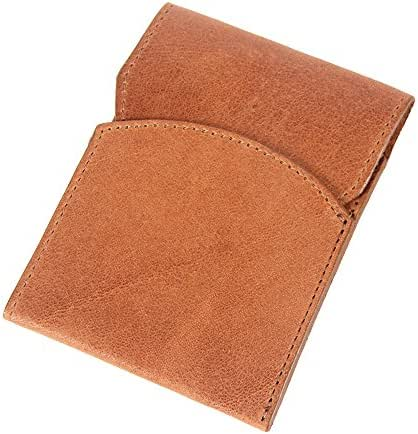 Col. Littleton Mens Leather Front Pocket Wallet with Flap