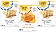 Simple Mills, Snacks Variety Pack, Fine Ground Sea Salt, Farmhouse Cheddar Variety Pack, 3 Count (Packaging Ma