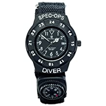 Smith & Wesson SW-XTMOPS-2 Extreme Ops Combo Tactical Folding Knife and Diver Field Watch with Compass