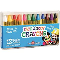 Dress Up America 12 Color Face Paint Safe & Non-Toxic...