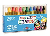 Dress Up America 12 Color Face Paint Safe & Non-Toxic Face and Body Crayons