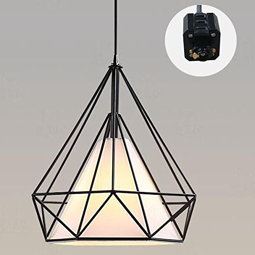 ANYE 1-Light Track Pendant Lights H-type 3 Wire 4.9 Feet Cord Vintage Pendant Lamp Retro Style Ceiling Lights