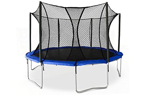 JumpSport SkyBounce 14′ XPS Trampoline System — Includes Integrated Safety Enclosure — Safest, Overlapping Doorway Entry