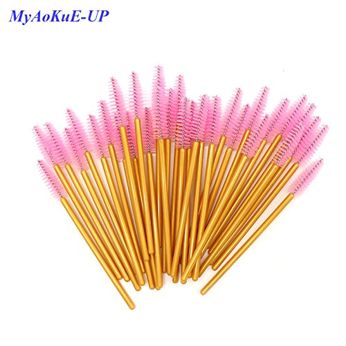 Best Quality - Makeup Brushes - Pcs/lot Disposable One-off 5 Mix Colors Nylon Mascara Wands Eyelash Extension Applicator Spoolers Makeup Brushes - by Olwen Shop by Olwen Shop (Image #5)