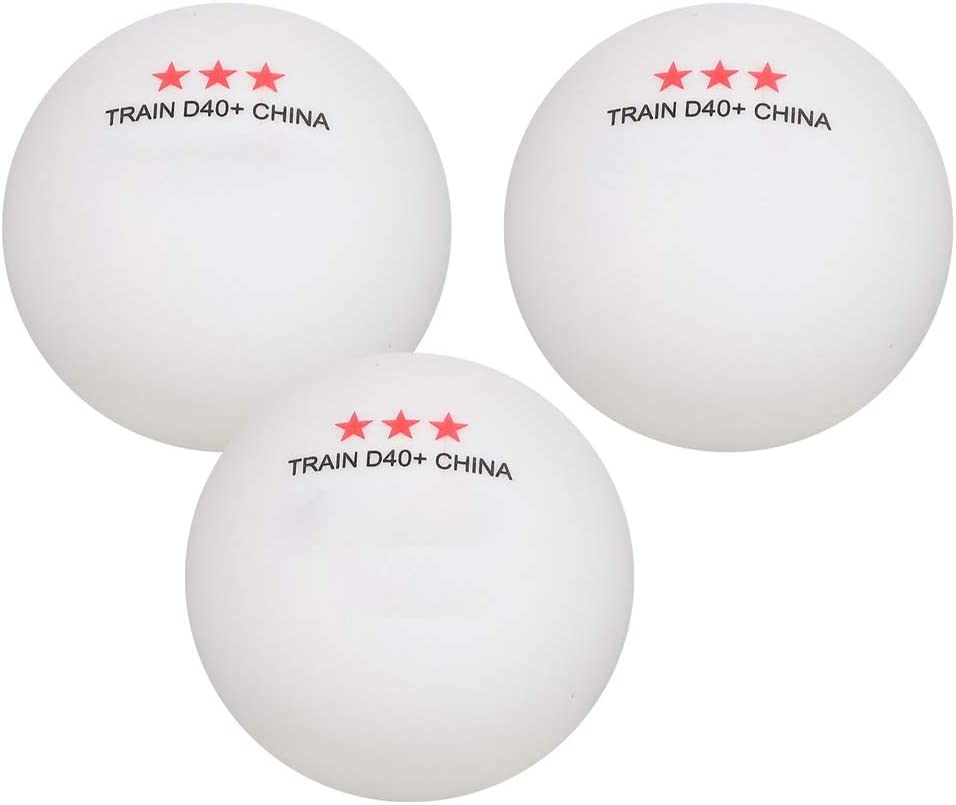 QIEZI Lot de 6 balles de Tennis de Table 3 /étoiles Balle de ping-Pong avanc/ée pour lentra/înement de comp/étition Orange, Blanc