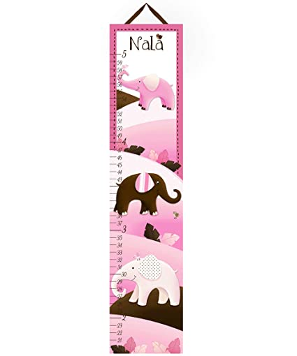 Amazon Toad And Lily Canvas Growth Chart Mod Pink Brown