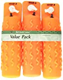 D.T. Systems Soft-Mouth Trainer Large 3-Inch by 12-Inch Plastic Dog Training Dummy, Blaze orange, 3-Pack