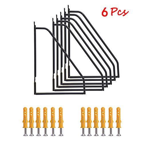 (6Pcs Metal Shelf Brackets, Heavy Duty Metal Wall Brackets, Triangle Corner Brace for Table Work Bench - 11.2 x 7.2in)