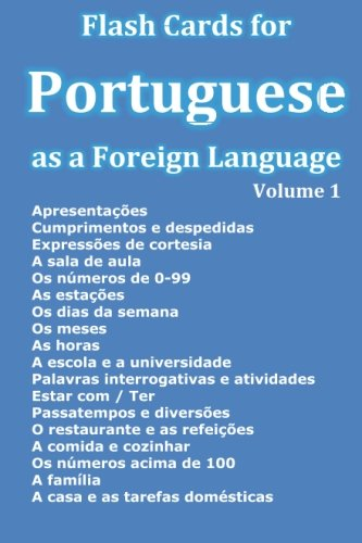 Flash Cards for Portuguese as a Foreign Language (Portuguese Edition) (Card Portuguese)