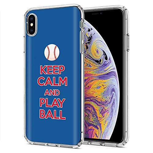 ([Mobiflare] Apple iPhone Xs MAX [Clear] Ultraflex Thin Gel Phone Cover [Play Ball - Chi Town Print])