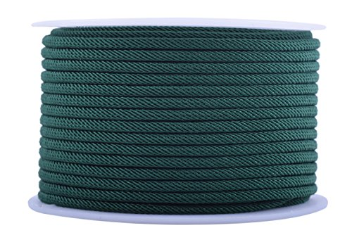 KONMAY 1 Roll 20 Meters 2.5mm Braided Cord Rope for Jewelry Making and ()