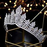 PROMNOVAS Fashional Wedding Tiaras Cubic Zirconia Women Bridal Crown Wedding Hair Accessories Quinceanera Headpiece