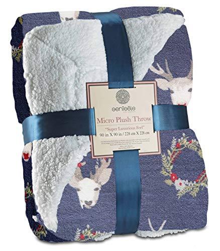 Genteele Super Soft Luxurious Sherpa Throw Blanket, 60' X 70', Gray
