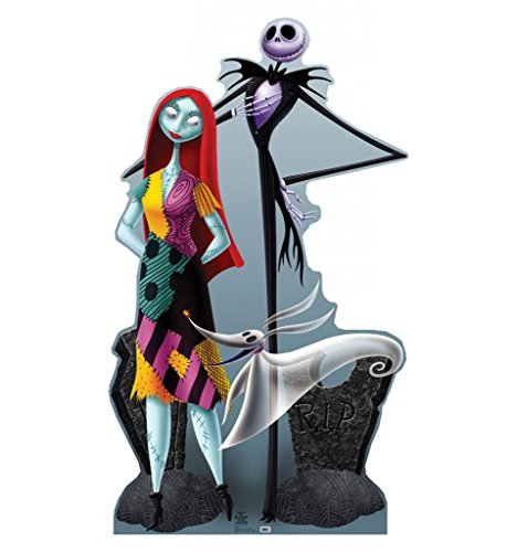 Jack, Sally & Zero - Tim Burton's The Nightmare Before Christmas - Advanced Graphics Life Size Cardboard (Nightmare Before Christmas Jack Skeleton)