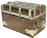 """Well Pack Box Wooden Pirate Treasure Chest 7"""" x"""