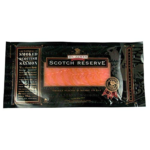 (St. James Smokehouse Scotch Reserve Whole Sliced Scottish Smoked Salmon Side)