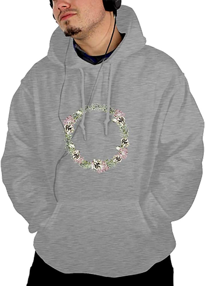 YIYIDongren Mens Womens Hooded Sweatshirt Realistic 3D Print Marineplants Pullover Hoodie with Big Pockets