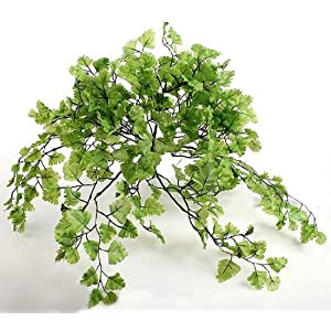 Artificial Silk Greenery Maidenhair Fern Bush 28