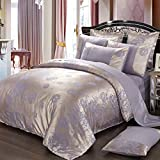 4pc cover set,European Satin Jacquard Four pieces set Quilt cover Sheet bedclothes Bedding kit-B 7086.6inch(180220cm)