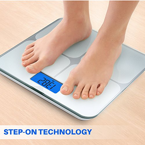 Smart Weigh Digital Body Weight Bathroom Scale with Weight Tracking and Step-On Technology, 440 Pounds, Recognizes and Stores 8 Users [2017 Upgraded Version] by Smart Weigh (Image #3)