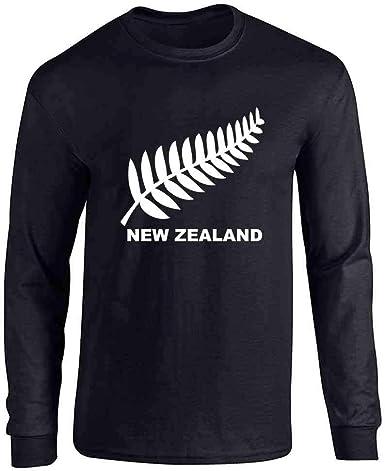 Camiseta de Manga Larga para Rugby, diseño de Escudo del Helecho ...