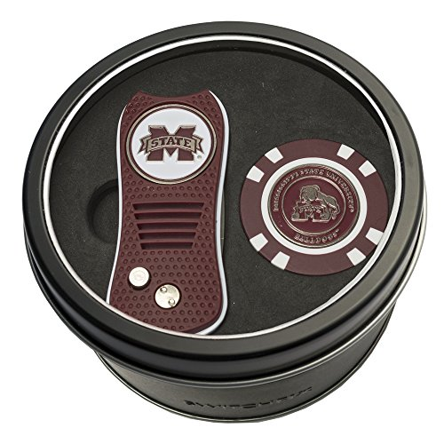 - Team Golf NCAA Mississippi State Bulldogs Gift Set Switchblade Divot Tool & Chip, Includes 2 Double-Sided Enamel Ball Markers, Patented Design, Less Damage to Greens, Switchblade Mechanism