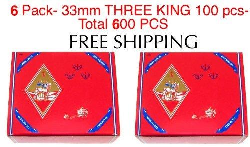 6 - Box of 100pcs Three King Charcoal Premium Hookah Hokah incense charcoal coals- TOTAL 600 Pieces