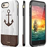 iPhone 8 Case iPhone 7 Case iPhone 6/6S Case with Ring Holder Kickstand Silicone Rubber Hybrid Slim Dual Layer Anti-Scratch Anti-Finger Protective High Impact Strong Durable Shockproof (Anchor) (4.7)