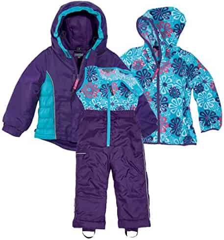 ab29fe64 Cozy Cub Purple and Blue 3 Piece Jacket, Fleece Insert, and Snow Pants,