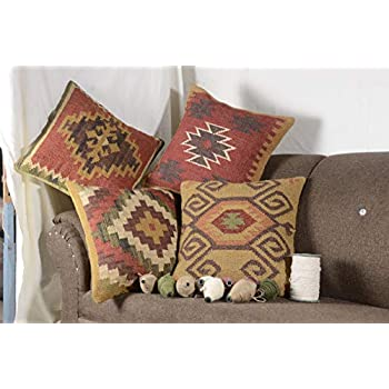 Amazon.com: Trade Star Exports Kilim Pillow, Indian Cushion ...
