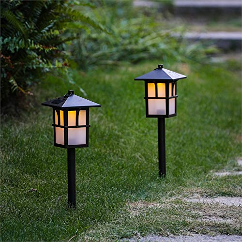 Winsome House Set of 2 Pagoda Solar Pathway Lights
