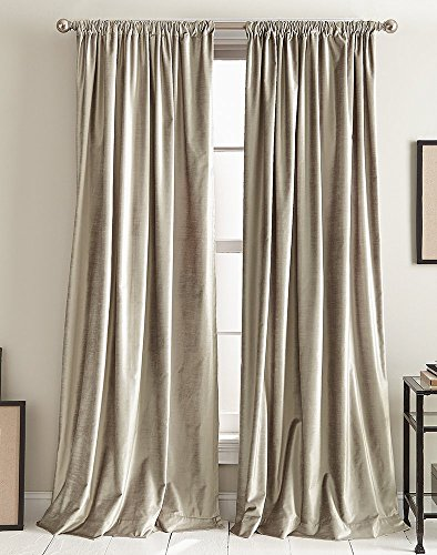 DKNY Modern Knotted Velvet Lined Curtain Panel Pair -