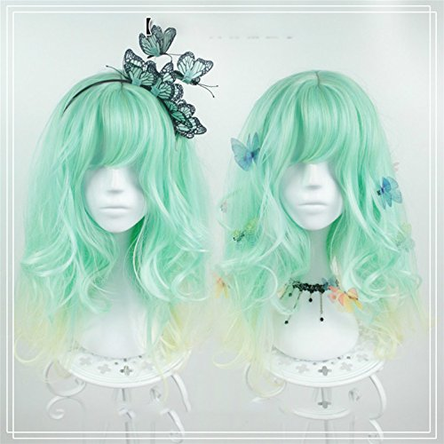 Suuny Queen Synthetic wig Ombre Blue T Blonde Mix Color wig with blonde at root heat resistance fiber