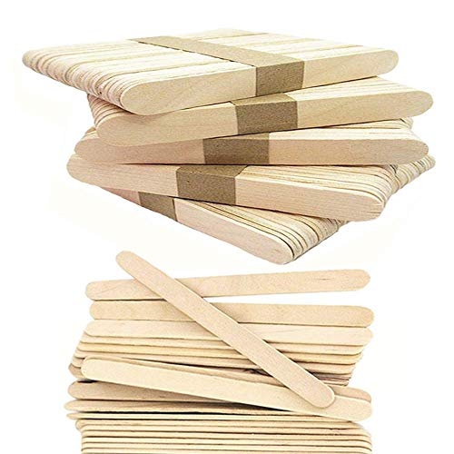 250 Pieces Around Wood Craft Stick, 4.5 Inch Ice Cream Sticks Popsicle Stick,Natural Finish Craft -