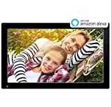 Nixplay Original 18.5 Inch WiFi Cloud Digital Photo Frame. iPhone & Android App, iOS Video Playback, Social Media Integration, Free 10GB Online Storage, Alexa Integration and Hu-Motion Sensor (W18A)