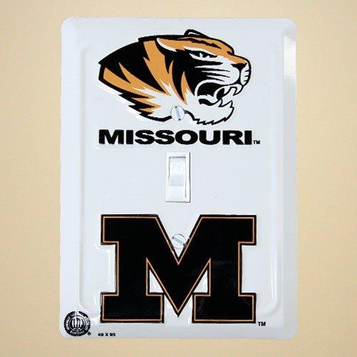 Missouri Tigers Metal Light Switch Cover