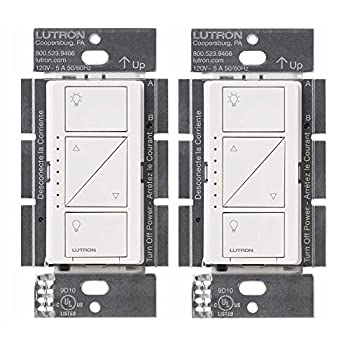 Image of Home Improvements Lutron PD-6WCL-WH Caseta Wireless Smart Lighting Dimmer Switch, White (2 Pack)