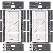 Lutron PD-6WCL-WH Caseta Wireless Smart Lighting Dimmer Switch, White (2 Pack)