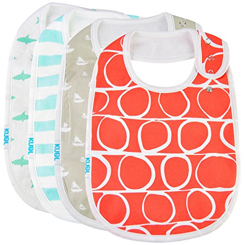 Baby Bib Large Toddler Burp Cloth Absorbent Feeding Reflux Drool Teething Snap Button Unisex from KUDL