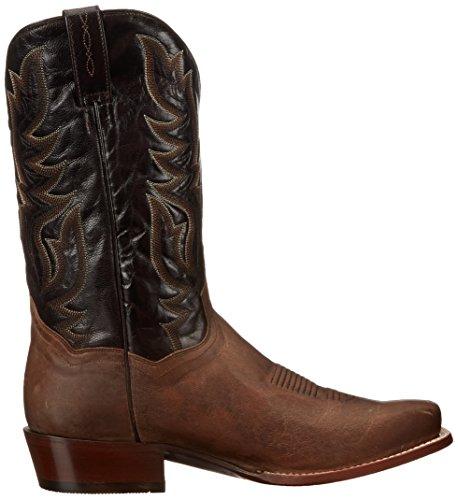 Dan Legg Menns Missoula Western Boot Sand / Sjokolade