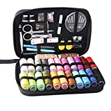 Sewing Kit with 24 Spools of Thread and Complete Sewing Accessories for Beginners Travelers Emergency Indoor and Outdoor