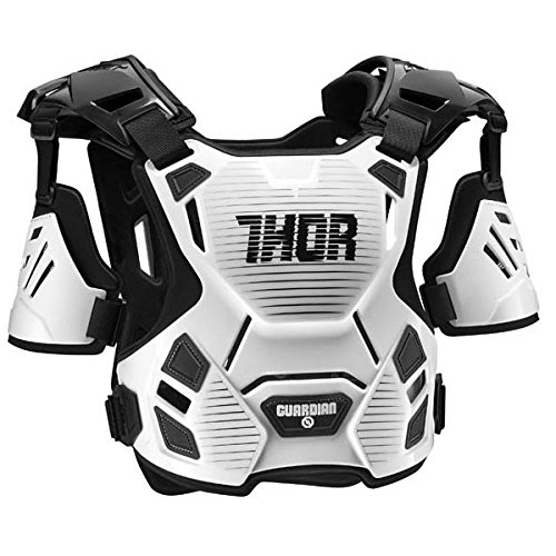 Thor ソアー GUARDIAN PROTECTOR 2017モデル オフロード モトクロス チェストプロテクター ホワイト/ブラック M/L B01MQG66MY